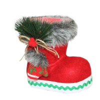 """Подарочный сапожок """"Красный"""" 400 гр, новогодняя упаковка для конфет"""