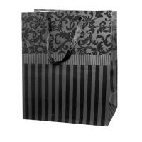 """Пакет подарочный """"Черный"""" с тиснением L"""