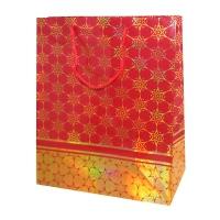 """Пакет подарочный люкс """"Красный"""" с тиснением L"""