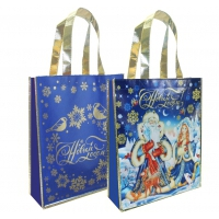 Подарочная сумка с петлевой ручкой «Снежный НГ» 1500 гр