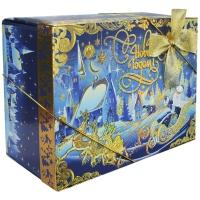 """Коробка складная с бантом """"Шкатулка"""", 1200 гр, новогодняя упаковка для подарков, конфет"""