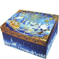 """Коробка складная с бантом """"Шкатулка"""" с тиснением, 1200 гр"""