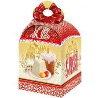 Коробка подарочная «Пасхальный узор» для кулича, 750-800 гр