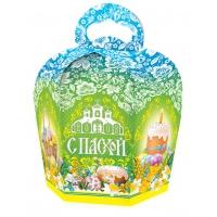 "Коробка подарочная ""Пасха Зеленая"" для кулича 300-350 гр"