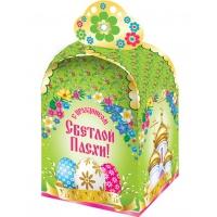 """Коробка подарочная """"Пасхальная Цветочная"""" для кулича 300-350 гр"""