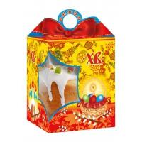Коробка подарочная  «Красный бант» с угловым окном, 750-800 гр