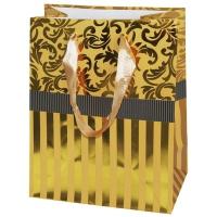 """Пакет подарочный люкс """"Золото"""" с тиснением L"""
