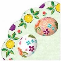 """Салфетки бумажные 3сл., d=32 см, Rondo """"Декоративные яйца"""", 12 шт."""