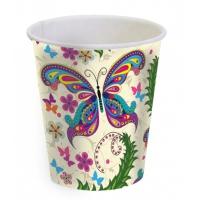 """Стаканы бумажные """"Бабочки"""", 250мл"""