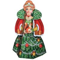 """Подарочная коробка """"Ёлочка-Красавица"""" 2000 гр, картонная новогодняя упаковка для конфет, подарков"""