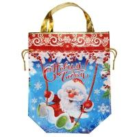 """Сумка-мешок с ручками """"КАЧЕЛИ"""", 2000 гр, новогодняя упаковка для подарков, конфет"""