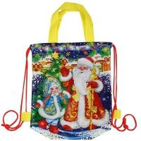 """Детский рюкзачок """"ДМ и Снегурка"""", 1500 гр, новогодняя упаковка для подарков, конфет"""