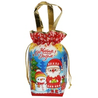 """Подарочный сумка-мешок с ручками """"МУЛЬТИК"""", 1300 гр, текстильная новогодняя упаковка для подарков, конфет"""