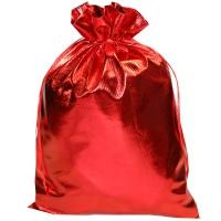 Подарочный мешочек из ламе (парчи) КРАСНЫЙ, 1000 гр, текстильная новогодняя упаковка для конфет