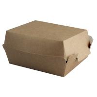 Коробка для бургера без печати 120х120х70 мм
