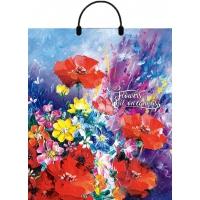 """Пакет """"Цветы маслом"""", 40х42, 100 мкм"""