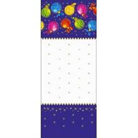 "Пакет ПП прозрачный с центральным швом ""Разноцветные шары"",135х380 мм, 60 мкм"