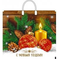 Пакет новогодний Домашнее тепло, 37х34, 80 мкм