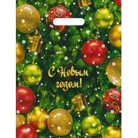 Пакет новогодний Ёлка, 30х40, 35 мкм