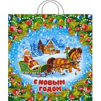 Пакет новогодний Усадьба, 38х42, 40 мкм