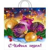 Пакет новогодний Декабрь, 38х42, 40 мкм