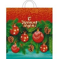 Пакет новогодний Ёлочный декор, 40х42, 45 мкм