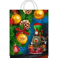 Пакет новогодний Вокзал желаний, 28х35, 55 мкм