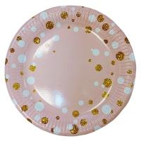 """Тарелки бумажные """"Вечеринка"""" розовые, 23 см"""
