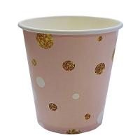 """Стаканы бумажные """"Вечеринка"""" розовые, 250мл"""
