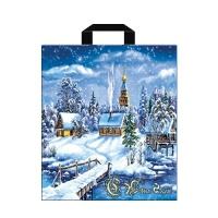 Пакет новогодний Снежное царство, 40х42см, 45 мкм
