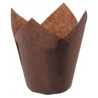 "Форма для выпечки ""Тюльпан"" d50 h90 мм коричневый"