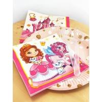 """Салфетки бумажные 3сл., 33x33, """"Милая принцесса"""", 20шт."""