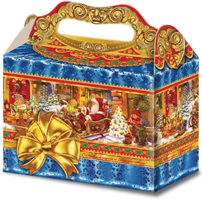 "Новогодняя упаковка ""Волшебство"" 2500 гр, картонная коробка для подарков"