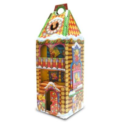 Новогодняя подарочная коробка «Башня-мишки» 1600 гр, новогодняя упаковка для конфет