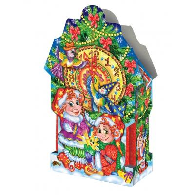 """Новогодняя подарочная коробка """"Часики"""" 2000 гр, новогодняя упаковка"""
