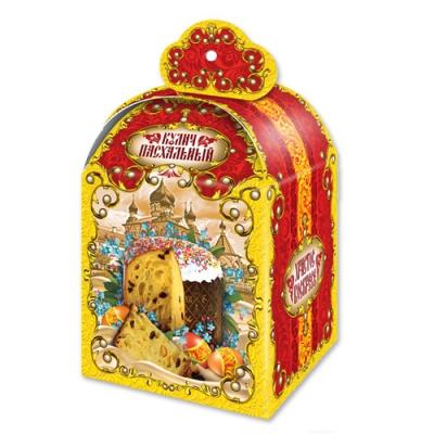 Коробка подарочная «Пасхальная красная» для кулича, пасхальная упаковка