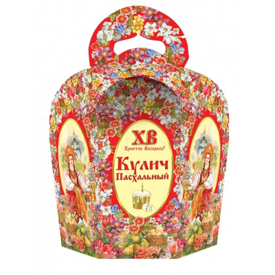 Коробка подарочная «Светлая пасха» для кулича, пасхальная упаковка