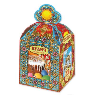 Коробка подарочная «Пасхальная-резная» для кулича, пасхальная упаковка