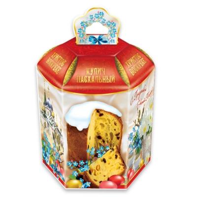Коробки подарочные «Незабудки» для куличей, пасхальная упаковка