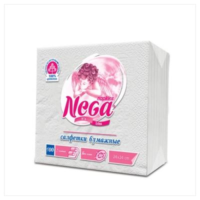 """Салфетки бумажные  25x25, """"NEGA"""" , 100шт."""