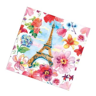 """Салфетки бумажные 2сл., 33x33, """"Париж"""", 20шт."""