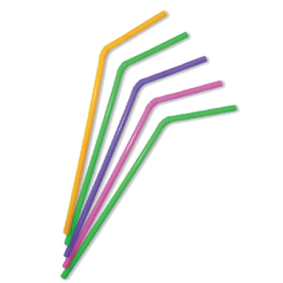 Трубочки с изгибом «Цветные»,21 см/250шт