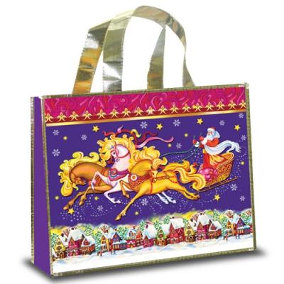 Новогодняя сумка с петлевой ручкой «Тройка»