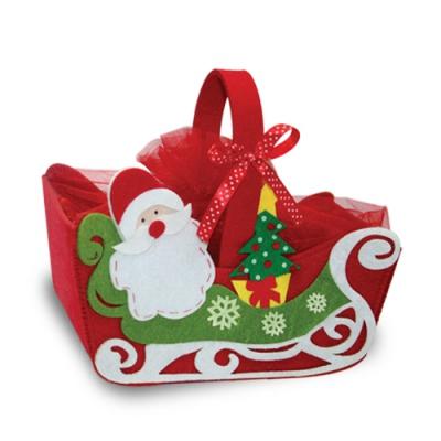 Сумочка из фетра «Санки» упаковка для новогодних подарков, конфет
