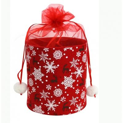 Туба из фетра «Орнамент» упаковка для новогодних подарков, конфет