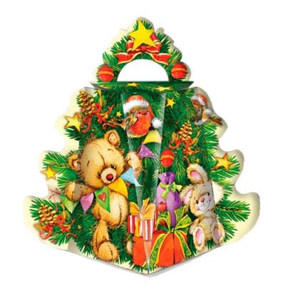 Новогодняя подарочная коробка «Малая Ёлка-Игрушки» 300 гр, новогодняя упаковка
