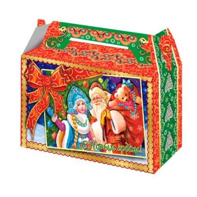 Коробка подарочная «Традиция 0,5» 500 гр, новогодняя упаковка