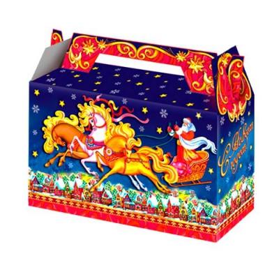 Новогодняя подарочная коробка «Тройка» 500 гр, новогодняя упаковка