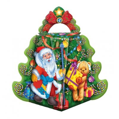 Коробка подарочная «Ёлка-Хоровод» 700 гр, новогодняя упаковка