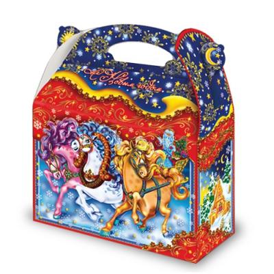 Новогодняя подарочная коробка «Упряжка» 1500 гр, новогодняя упаковка